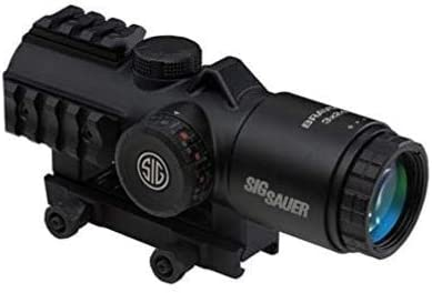 Sig Bravo3 Battle Sight, 3X24mm, 556-762 Horseshoe DOT Illum Reticle, 0.5 Moa, M1913, Black
