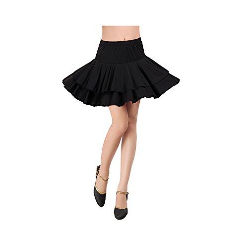 [loveUshop Latin salsa Cha cha tango Ballroom Dance Dress-Latin dance Skirt Costume (L)] (Chacha Dance Costume)