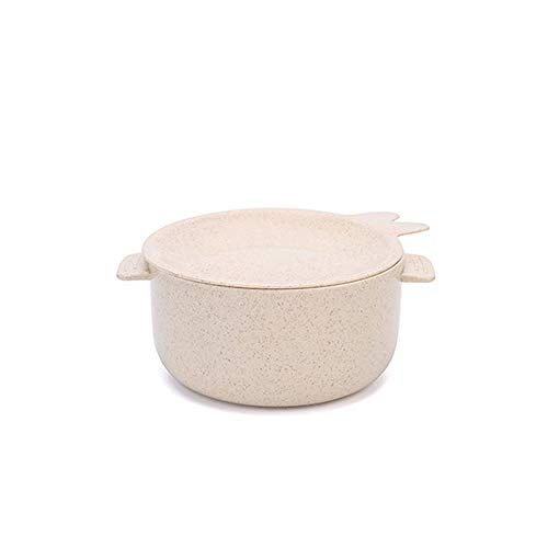 MHO Cuenco de Paja de Trigo, Tazones de consomé Cereales Pasta Fruteros Ensaladeras Tazones para el Desayuno con Asas,White