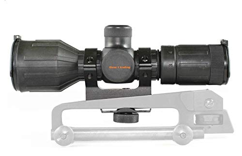 """3-9X40 1"""" RUBBER COATED HEAVY DUTY SCOPE RED GREEN MIL-DOT HUNTING SHOOTING SCOPE WITH MOUNT"""