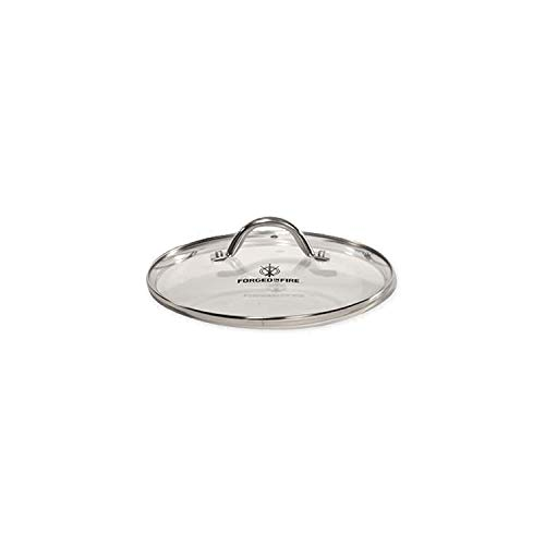 HISTORY - Forged in Fire - 10-Inch Tempered Glass Lid with Stainless Steel Trim, Thermal Technology, and Vent Control, Designed to Pair with the Forged in Fire Pan