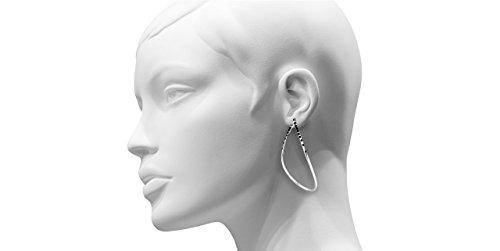 D.C. Parmentier Boucles d'oreilles percées Yael 12 plaquées argent