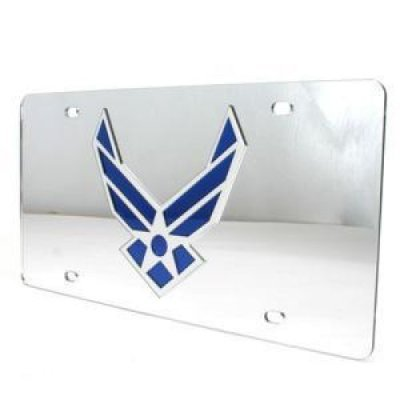 Air Force Falcons Inlaid Acrylic License Plate - Silver (Force Frame Air)