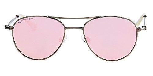estilo Kristian Sol Aviador Calidad Denmark Pink Olsen Modelo Grease mujer de polarizada Gafa KqwrqxR0I