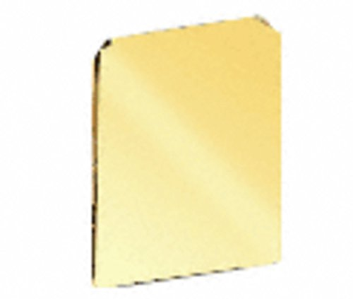 Polished Brass End Cap for WU3 Series Wet/Dry U-Channel