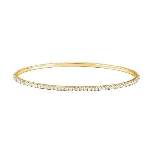 14k Yellow Gold 3 Ct Diamond Stackable Bangle Bracelet by Jewelplus