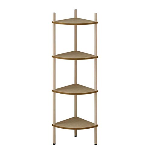 Jcnfa-Shelves Scalloped Bookcase Corner Frame Solid Wood Stitching Bookshelf Multi-Layer Children's Student Bookcase (Color : Wood Color, Size : 11.8111.8146.45in)