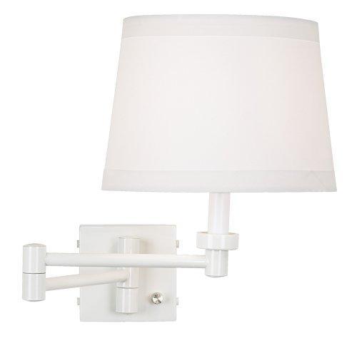 Vero White Plug-In Swing Arm Wall Lamp (Wall White Lamp Arm Swing)
