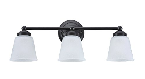 Aspen Creative 62014-2, Three-Light Metal Bathroom Vanity Wall Light Fixture, 24