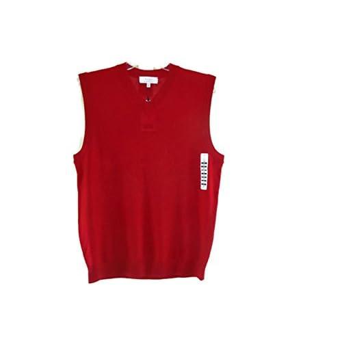 Vest Trui.Turnbury Merino Wool V Neck Sweater Vest Tru Red 5kjjo0504375 35 99