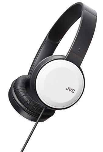 - JVC Lightweight Flat Foldable On Ear Colorful Lightweight Headband w Mic, White (HAS190MW)