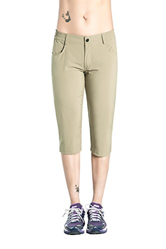 Nonwe Women's Outdoor Breathable Quick Dry Walk Shorts Khaki S by Nonwe