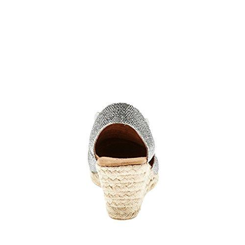 White Mountain 'Supreme' sandalias de la mujer Silver