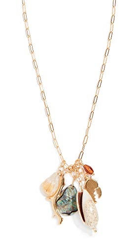 Chan Luu Women's Abalone Shell Mix Charm Necklace, Abalone mix, Gold, One ()