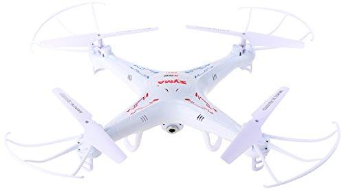 SYMA X5C-1 Drone Quadricopter, Cámara HD para Fotos y Videos, Giros de 360°, Tarjeta MicroSD y Cable USB, Blanco