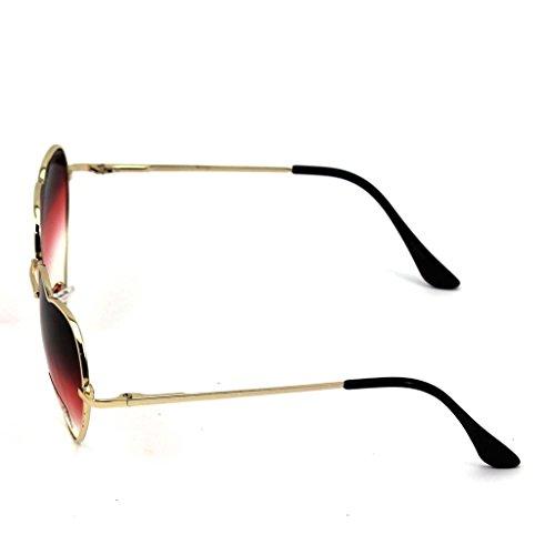 1X sol gran tamaño forma las mujer de corazón VANKER manera grande gafas para en de de Gafas Gafas lindo de Rojo PFxdE