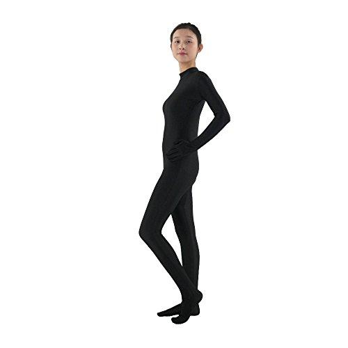 Apromio Spandex Bodysuit Full Body Zentai Suit Black - Large