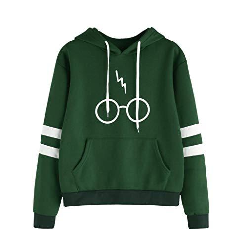 fe18f320bba Fanteecy Women's Harry Potter Glasses Scar Hooded Sweatshirt Hoodies Autumn  Long Sleeve Pullover Sweater Tops (