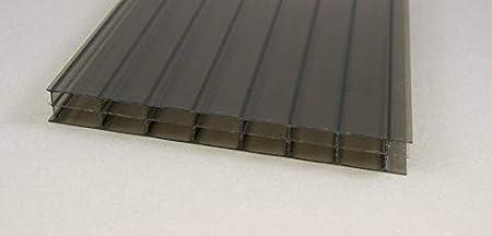 Doppelstegplatte 16mm stark Steg 3 Fach Stegplatte aus Polycarbonat opal 2100mm x 7000mm