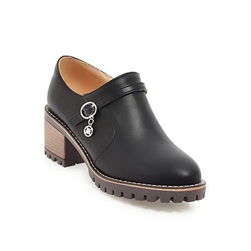 36 AdeeSu Femme SDC05703 Sandales Compensées Noir 5 Noir pPzzwxqY