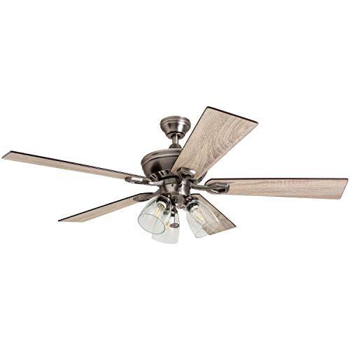 Prominence Home 50388 Glenmont Rustic Ceiling Fan, 52 , Antique Pewter