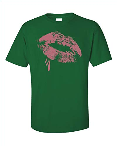 - Funny Makeup - Lips Lipstick - Gloss Glow Humor - Unisex T-Shirt Irish Green