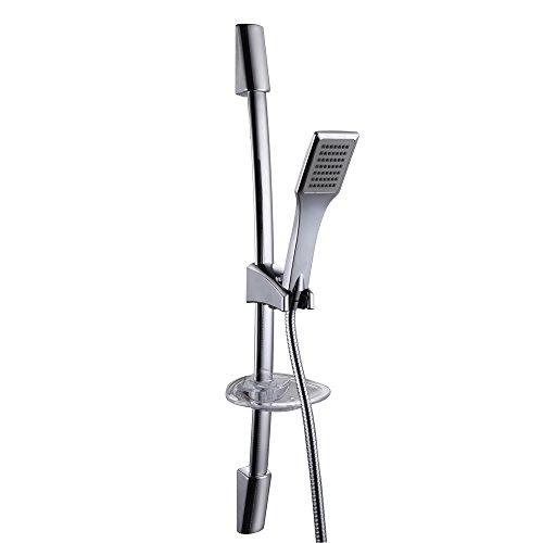 KES F221+KP117 Single Function Hand Shower Head with Slide Bar Adjustable, Polished - Bar Slide Adjustable