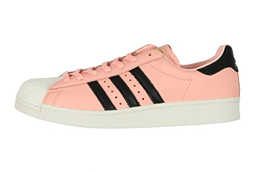 Adidas Mens Superstar Boost Casual Shoes 10.5 M Us Coral Nocciola Rosa Nero Bianco