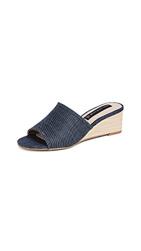 Steven Women's Lemur Demi Wedge Slides, Denim, Blue, 5.5 M US
