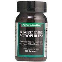 Futurebiotics Longest Living Acidophilus Plus Capsules, 100-Count