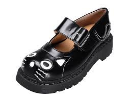 T2025 WOMEN LEATHER Black K T UK 6 SHOES GIRL Kitty 4 EU US Anarchic U Mary Jane 37 TUK Ladies by dAwv5qfndg
