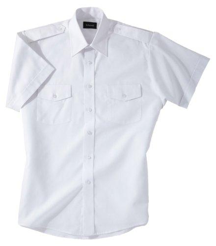Ed Garments 1212 Mens Short Sleeve Navigator Shirt - White - Medium ()