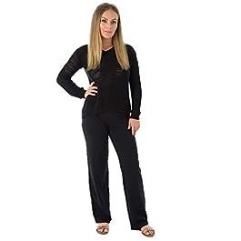 EX M&S Ladies Cotton Stretch Joggers Tracksuit Bottoms Pants Sports Gym Straight Leg