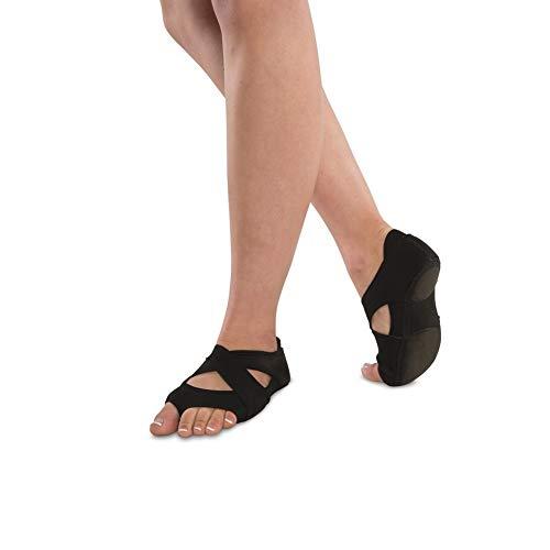 - Danshuz Women's Neoprene Cross Wrap Black Footundeez L