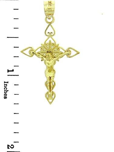 10 ct 471/1000 Or Jaune Crucifix - Le Bon Berger Crucifix Pendentif