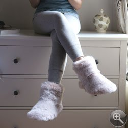 93ee4c7591d Soft Fur Slipper Boots In Pink - Medium - Super Soft Slippers ...