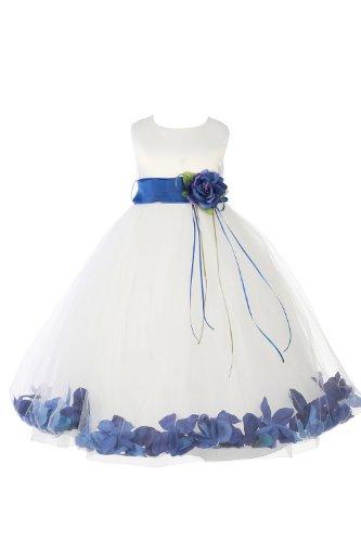 white and blue wedding dress - 5