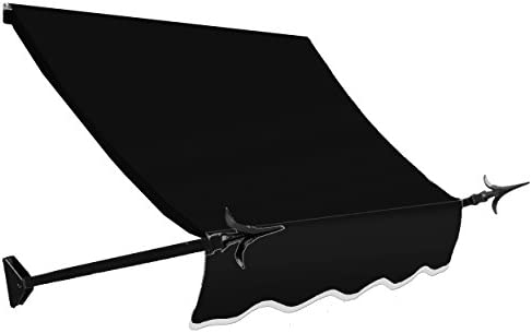 Awntech 3-Feet New Orleans Awning, 44-Inch Height by 24-Inch Diameter, Black