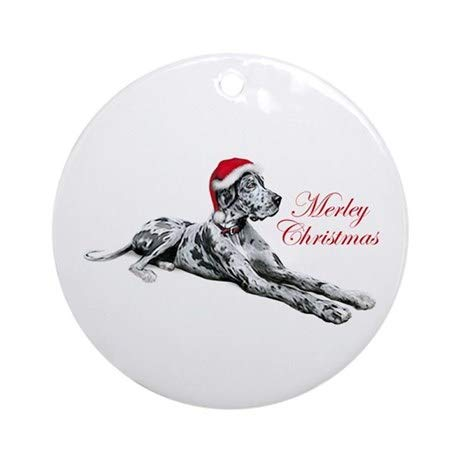 TiuKiu Great Dane Merley Xmas UC Ornament (Round) - 2.875