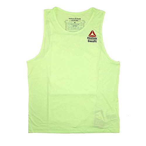 Reebok T-shirt Tank Top - Reebok Crossfit Men's Neon 2017 Crossfit Games Perf. ActivChill Tank Top (L)