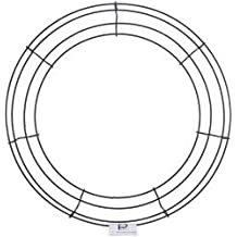 "Bulk Buy: Panacea Wire Wreath Frame 14"" Green 36004 (10-Pack)"