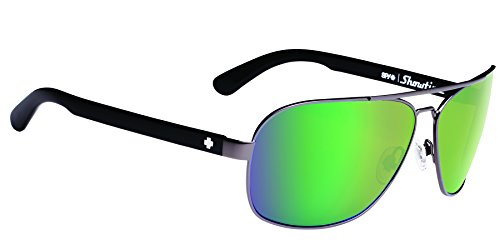 Spy Optic Showtime 672036311225 Aviator Sunglasses, 61 mm (Gunmetal/Happy Bronze/Green - Gunmetal Sunglasses Spy