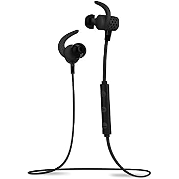 BlueAnt PUMP MINI Black BT4.1 Sweatproof/Wireless Sports/Fitness Bluetooth Earbuds w/mic iPhone6+,6,Apple Watch,Android,6hrs