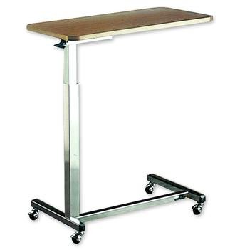 2 Tables: Hospital Over Bed Adjustable Overbed Reading Table by Invacare Company