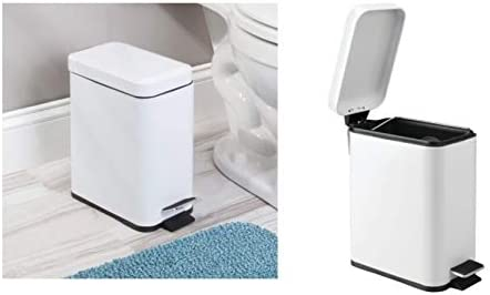 3 LITRE MADDISON STYLE SILVER MARBLE EFFECT PEDAL BIN BATHROOM HOME MODERN LID