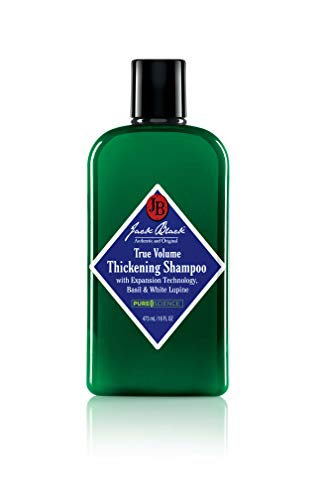 JACK BLACK - True Volume Thickening Shampoo - PureScience Formula, Expansion Technology, Basil & White Lupine, Sulfate-Free Shampoo,and Product Build-Up, Helps Thicken Hair, 16 Oz