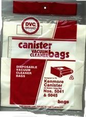 Package of 3 Replacement Kenmore bags for Canister Models 5041, - 3 Replacement Kenmore Bags