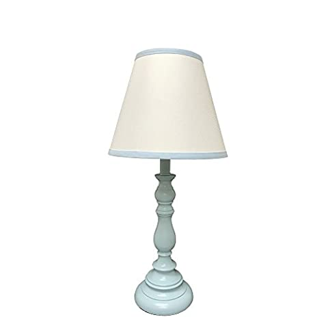Creative Motion 60136-3 Juvenile Table Lamp Matching Base & Light Blue Shade - Juvenile Kids Table