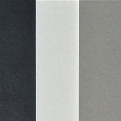 Black, White and Gray Full Sheet Mat Board Variety Pack (25 Quantity) 32 x 40 Cream Core