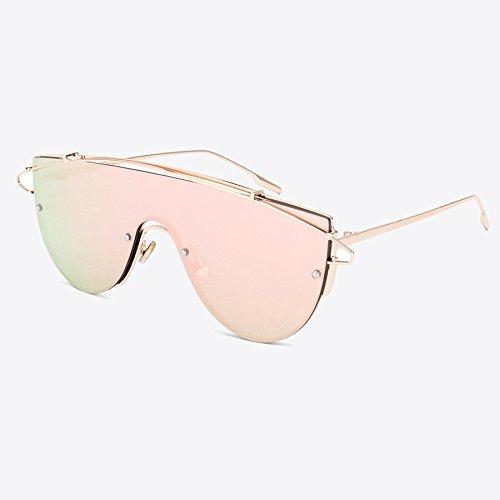 de A Burenqi Verano conjuntada E Gafas Marco Estilo de Sol Lente Gafas de Aleación diseñador Sol de Mujer Sobredimensión Marca Unisex Fqrw0zRqg